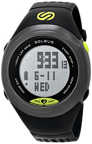 Soleus GPS Sole Running Watch Heart Rate Monitor Grey Black Lime