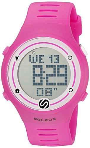 Soleus Unisex SR022 630 Sprint Digital Display Quarz Rosa Armbanduhr