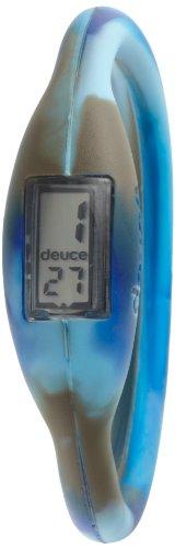 Deuce DBCBUS Damen Camo Blaue Silikon Gummiband Digital Zifferblatt