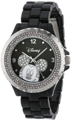 Disney by Ewatchfactory Damen-Armbanduhr Enamel Sparkle Watch Analog schwarz 56270-1B