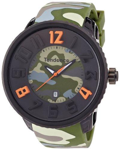 Gulliver Round Camo Tendence Unisex Armbanduhr Analog Kunststoff gruen T0430030