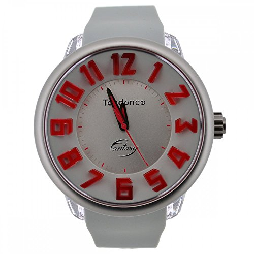 Tendence Gulliver Fantasy Silver Watch With Red Detail TG630005