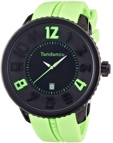 TENDENCE Unisex Armbanduhr GULLIVER ROUND FUNKY Analog Plastik Gruen 02043024