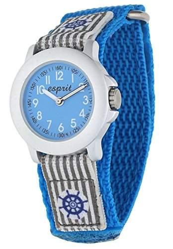 Esprit Jungen-Armbanduhr Brave Sailor Analog Quarz Textil ES103454002