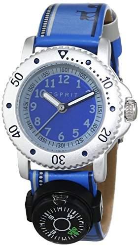 Esprit Jungen-Armbanduhr Savanna Trek Blue Analog Quarz Leder ES108334005