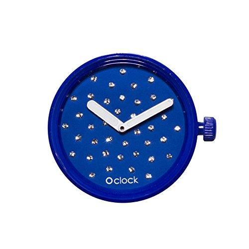 O Clock Fullspot Gehaeuse Cristal Mechanismus blau Elek