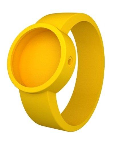 O clock Unisex Wechselarmband fuer Armbanduhr gelb Silikon 32 mm COVERL GI