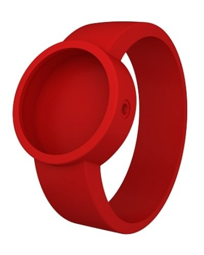 O clock Unisex Wechselarmband fuer Armbanduhr rot Silikon 32 mm COVERS RT