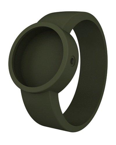 O clock Unisex Wechselarmband fuer Armbanduhr gruen Silikon 32 mm COVERS VO