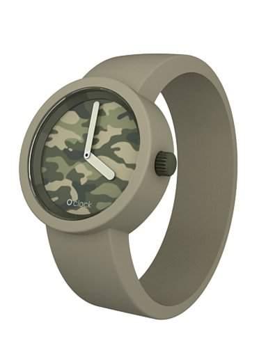 O Clock Unisex-Armbanduhr Analog Silikon Camouflage OCC03-M