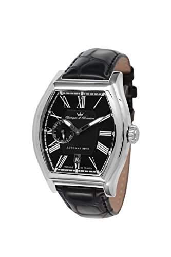 Yonger & Bresson Herren-Armbanduhr Chenonceau Analog Automatik Leder YBH 8342-11
