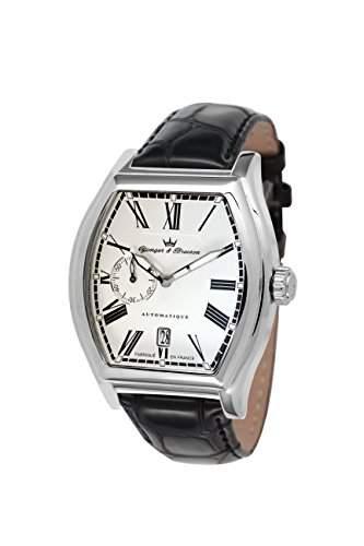 Yonger & Bresson Herren-Armbanduhr Chenonceau Analog Automatik Leder YBH 8342-22
