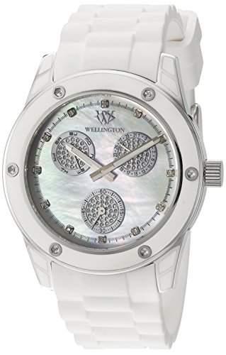 Wellington Damen-Armbanduhr Geraldine Analog Silikon WN506-186B