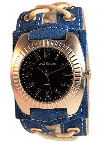 Nele Fortados Uhr Damenuhr Armbanduhr XXL Blau Schwarz