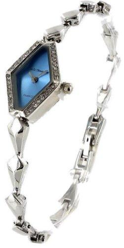 Kleine und sehr flache Nele Fortados Metallband Armbanduhr Clipverschluss Strass Damenuhr