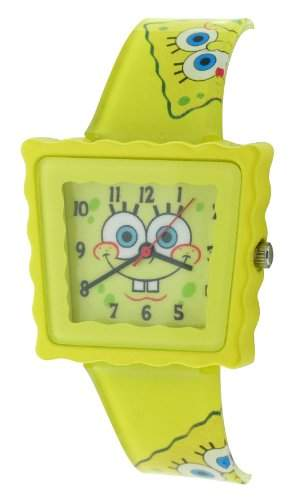 Spongebob Squarepants Unisex-Armbanduhr Analog Formgehaeuse gelb SB39A
