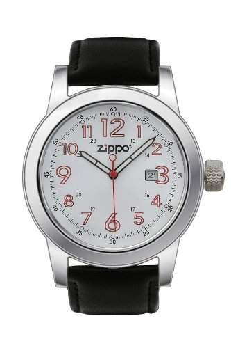 Zippo Herren-Armbanduhr Analog Leder schwarz 45002