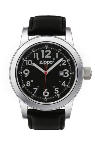 Zippo Herren-Armbanduhr Analog Leder schwarz 45003