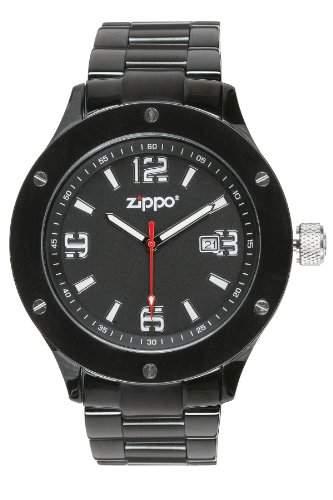 Zippo Herren-Armbanduhr Analog Edelstahl schwarz 45007