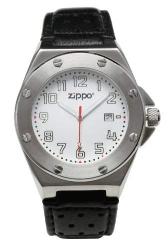 Zippo Herren-Armbanduhr Analog Leder schwarz 45008