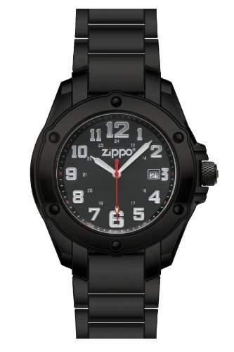 Zippo Herren-Armbanduhr Analog Edelstahl schwarz 45014