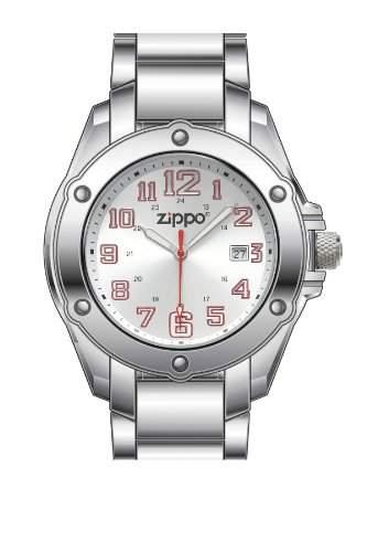 Zippo Herren-Armbanduhr Analog Edelstahl silber 45015