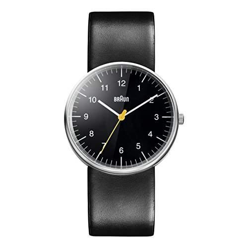 Braun Herren-Armbanduhr XL Leder Analog Quarz Leder BN0021BKBKG