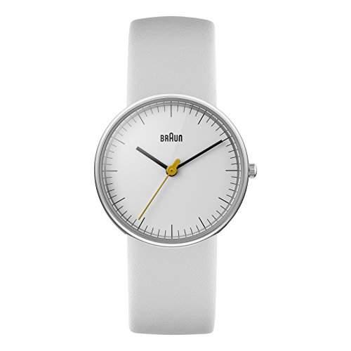 Braun Damen-Armbanduhr XS BN0021WHWHL Analog Leder