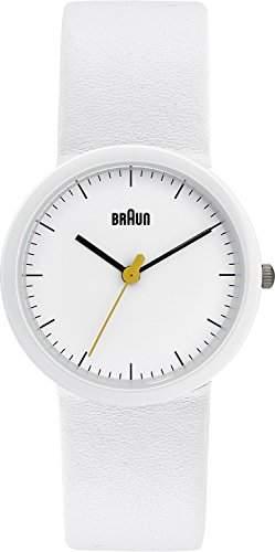 Braun Damen-Armbanduhr XS Classic Range Analog Quarz Leder BN0021WHWHWHL