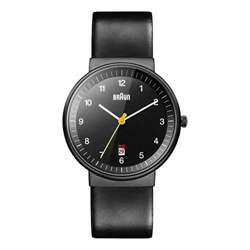 Braun Herren-Armbanduhr XL BN0032BKBKG Analog Leder
