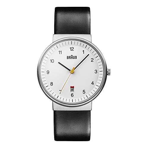 Braun Herren-Armbanduhr XL BN0032WHBKG Analog Leder