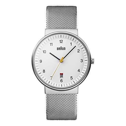 Braun Herren-Armbanduhr XL Analog Quarz Edelstahl BN0032WHSLMHG