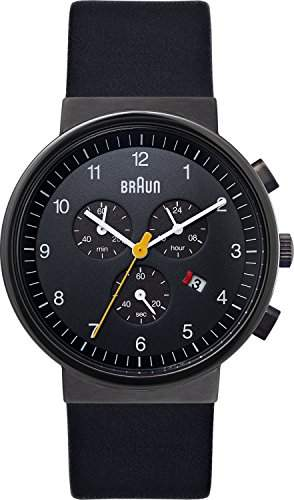 Braun Herren-Armbanduhr XL Classic Range Chronograph Quarz Leder BN0035BKGNBKG