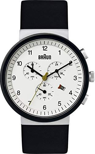 Braun Herren-Armbanduhr XL Classic Range Chronograph Quarz Leder BN0035WHSLBKG