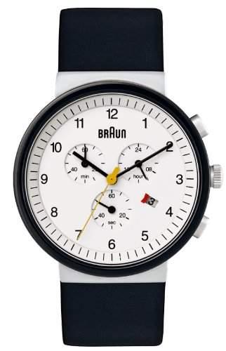 Braun Unisex-Armbanduhr BN0035WHSLBKGCB Analog Quarz Leder 66544
