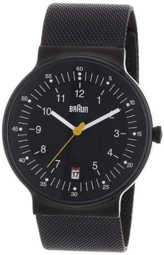 Braun Herren-Armbanduhr XL BN0082BKBKMHG Analog Edelstahl