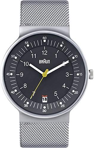 Braun Herren-Armbanduhr XL Analog Quarz Edelstahl BN0082GYSLMHG