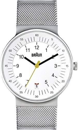 Braun Herren-Armbanduhr XL BN0082WHSLMHG Analog Edelstahl