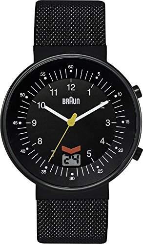 Braun Herren-Armbanduhr XL CLASSIC RC DFCMSF Analog Edelstahl BN0087BKBKMHG
