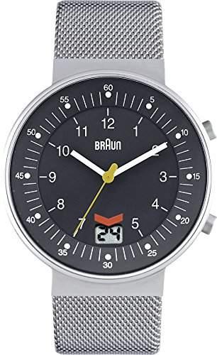 Braun Unisex-Armbanduhr BN0087GYSLMHG Analog Quarz Edelstahl 66517