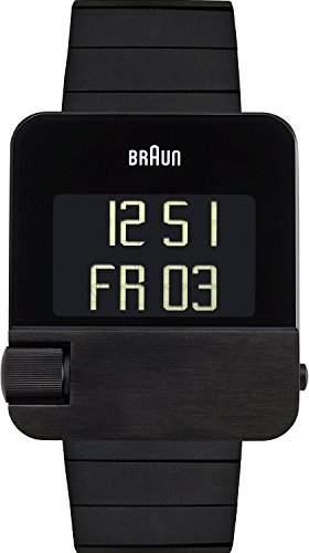 Braun Unisex-Armbanduhr Digital Quarz Edelstahl BN0106BKBKBTG