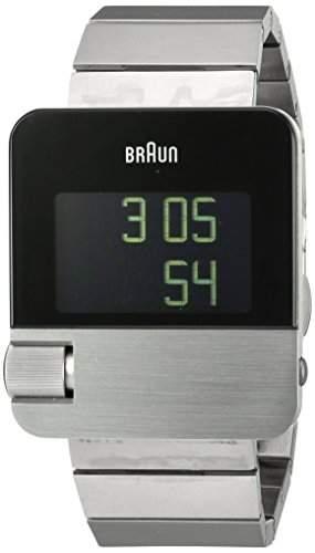 Braun Unisex-Armbanduhr PRESTIGE WATCH Digital Edelstahl BN0106SLBTG