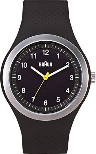Braun Unisex-Armbanduhr Sport Analog Silikon BN0111BKBKG
