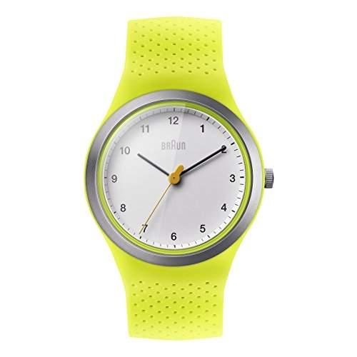 Braun Damen-Armbanduhr BRAUN LADY SPORT Analog Quarz Silikon BN0111WHGRL