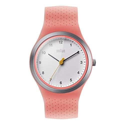 Braun Damen-Armbanduhr BRAUN LADY SPORT Analog Quarz Silikon BN0111WHPKL