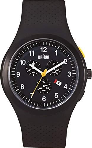Braun Unisex-Armbanduhr Sport Chronograph Analog Silikon BN0115BKBKBKG