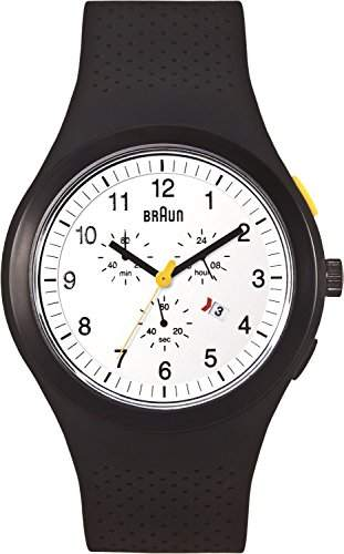 Braun Unisex-Armbanduhr Sport Chronograph Analog Silikon BN0115WHBKBKG