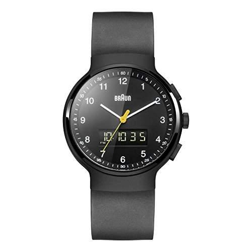 Braun Unisex-Armbanduhr BN0159BKBKG Analog - Digital Quarz Kautschuk BN0159BKBKG