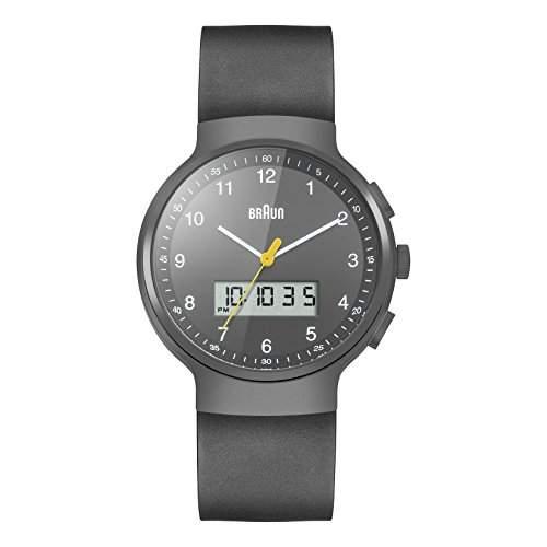Braun Unisex-Armbanduhr BN0159GYGYG Analog - Digital Quarz Kautschuk BN0159GYGYG