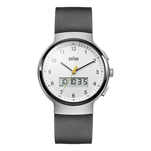 Braun Unisex-Armbanduhr BN0159WHBKG Analog - Digital Quarz Kautschuk BN0159WHBKG